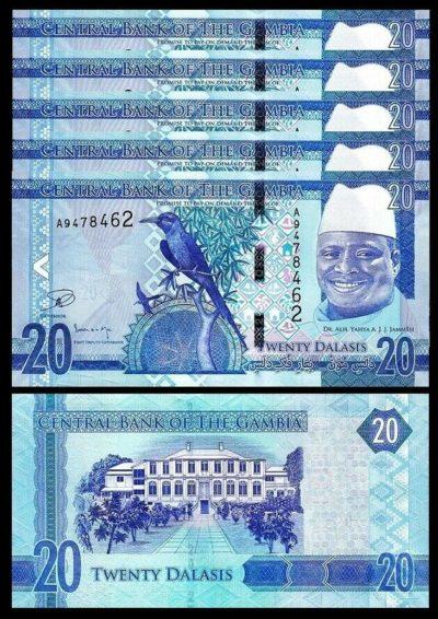 GAMBIA 10 DALASIS 2019 P NEW DESIGN UNC LOT 10 PCS